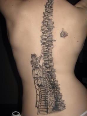 Amazing Girl And Back Book Tattoo Tattoomagz Tattoo