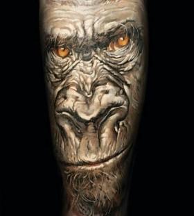 Angry monkey tattoo by Dimitry Samohin