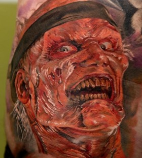 Angry simple tattoo by Dimitry Samohin