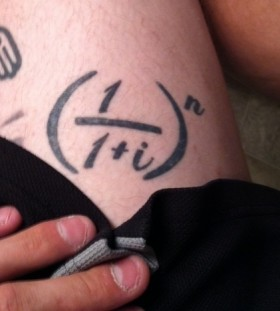 Awesome math formula tattoo