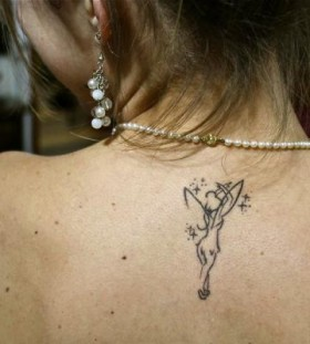 Ballerina with wings tattoo