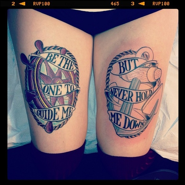 Be the one to guide me quote tattoo on leg