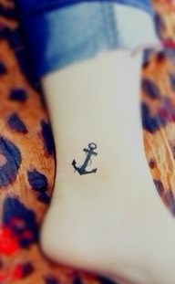 Black anchor lovely tattoo