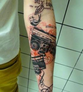 Black camera tattoo by Xoil