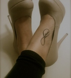 Black lovely tattoo with shoes