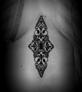 Black pretty keyhole tattoo
