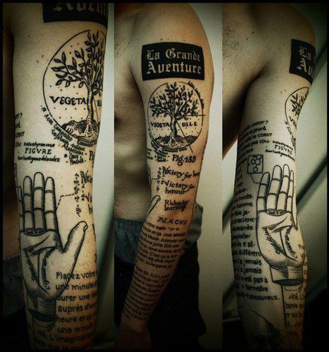 Black tree incredible tattoo
