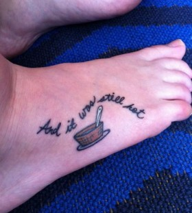 Coffee cup incredible tattoo