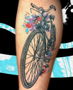 Colorful bicycle tattoo