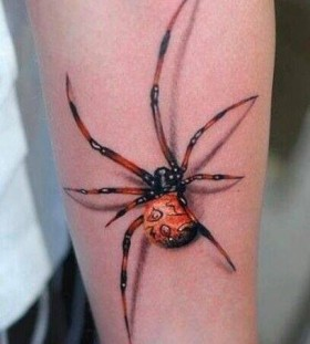 Cool spider tattoo on hand