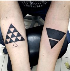 Cool triangles tattoos