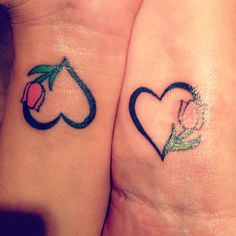 Couples tulips tattoo