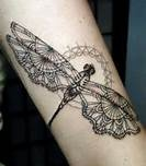 Cute butterfly lace tattoo on arm