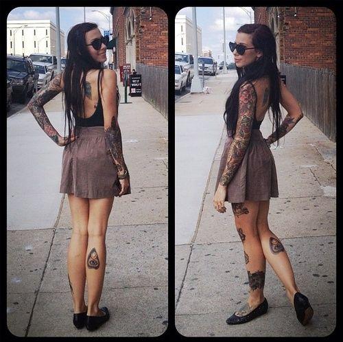 4bd5db992 Cute girl poppy tattoo on leg - | TattooMagz › Tattoo Designs / Ink ...