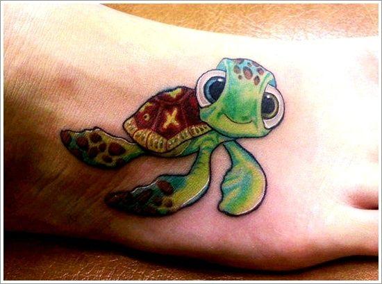 79cdd352095e0 Cute turtle tattoo on foot - | TattooMagz › Tattoo Designs / Ink ...