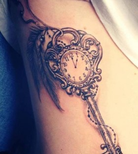 Cute watch and keyhole tattoo