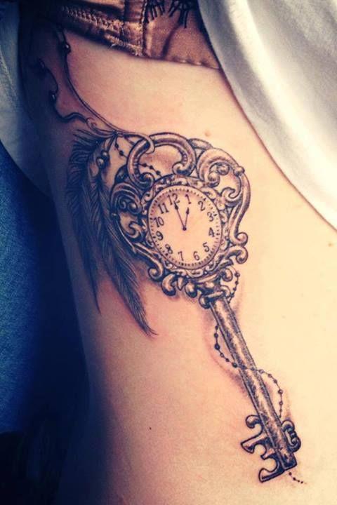 Cute watch and keyhole tattoo