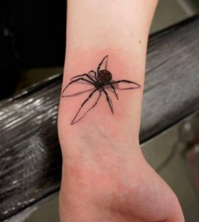 Fantastic Black Widow tatoo on arm
