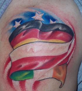Flags tattoo
