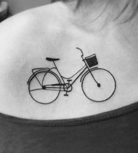 Girl bicycle tattoo