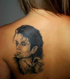 Girl with Michael Jackson tattoo
