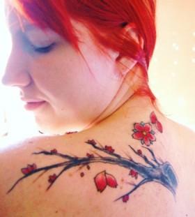 Gorgeous lovely cherry tattoo on arm