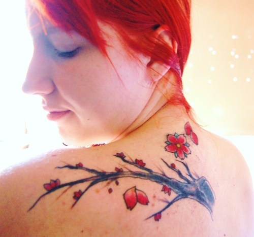 Gorgeous lovely cherry tattoo on arm