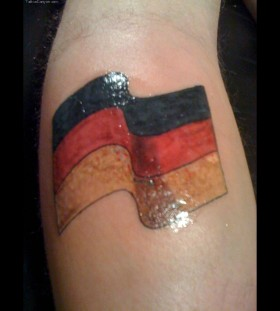 Great tattoo with Germany flag