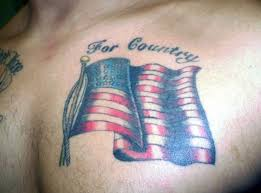 Great tattoo with flag