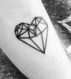 Lovely black heart ornaments tattoo