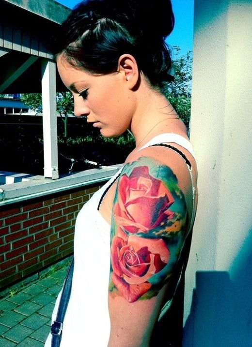 Lovely Girl Red Rose Tattoo On Arm Tattoomagz Tattoo Designs Ink Works Body Arts Gallery