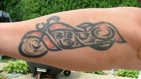 Lovely small bicycle tattoo on arm