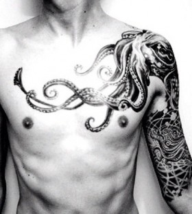 Man with octopus tattoo