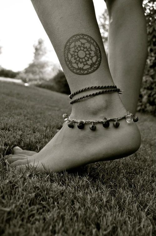 Mandala style ornaments tattoo