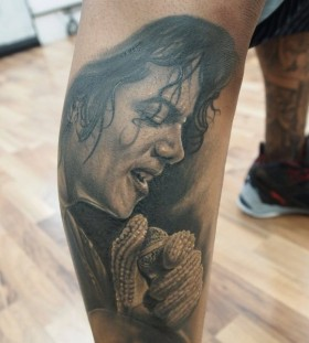 Michael Jackson singing tattoo