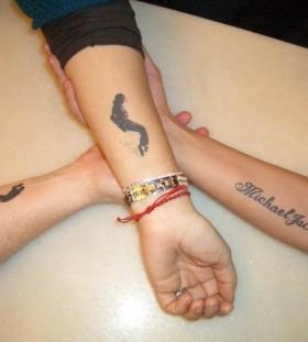 Michael Jackson tattoos on wrists