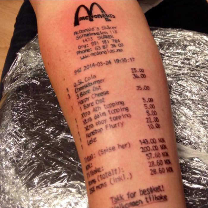 Norwegian teens number tattoo on arm
