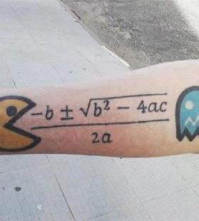 Pac man formula tattoo