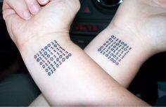 Puzzle formula tattoo