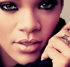 Rihanna's love quote tattoo on finger