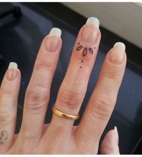 Scary nails and ornaments tattoo