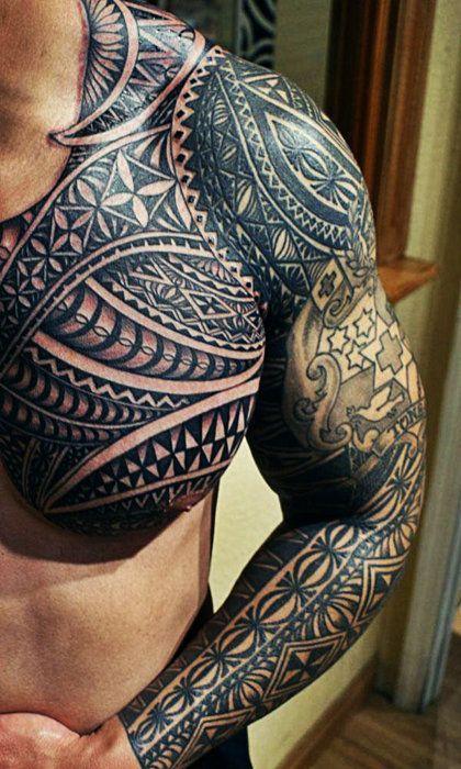 Simple black tribal tattoo on arm
