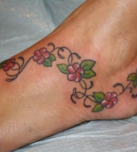 Small ankle hawaiian style tattoo