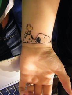 Snoopy With Gun Tattoo Tattoomagz Tattoo Designs Ink Works