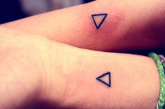 Triangle tattoo for couple