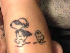 Walking snoopy tattoo