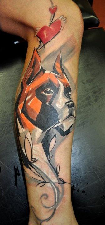 Dog tattoos on arms