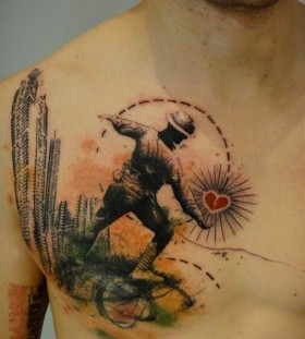 Wonderful black tattoo by Xoil