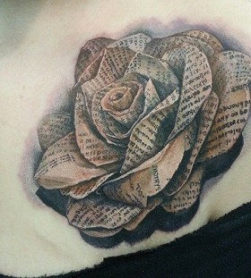 Yellow rose ornaments tattoo