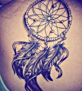 3D ornaments dreamcatcher tattoo